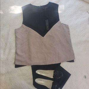 Willi Smith sleeveless color block top XL NWT